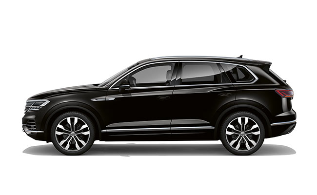 Touareg V6S finished in Deep Black