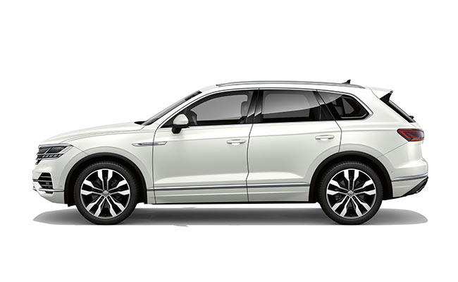 Touareg V6S finished in Oryx White