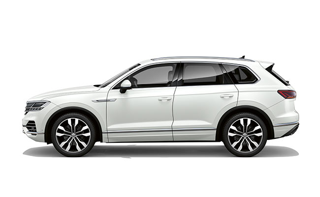 Touareg V6S finished in Pure White