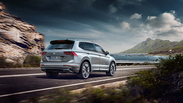 Performance Powered by petrol or diesel engine technology, the range offers 4MOTION models for the more adventurous. The Tiguan Allspace is as capable off-road as it is around town and on the highway.  And, thanks to the BlueMotion technology measures employed, you'll also save on fuel without having to forego dynamic performance. They include energy recovery and the start/stop system among others.  With the Tiguan Allspace you can also opt for the powerful 176 kW (240 bhp) BiTDI engine for impressive performance readiness. Combined with permanent 4MOTION four-wheel drive, the engine delivers optimised traction on varied surfaces.